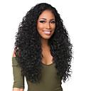 ieftine Peruci Păr Uman-Păr Virgin Față din Dantelă Perucă Păr Brazilian Buclat Negru Perucă Deep Parting 130% 150% 180% Densitatea părului cu păr de păr Dame Negru Pentru femei Lung Peruci Păr Uman