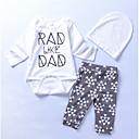 ieftine Baby Boys' One-Piece-Bebelus Băieți Șic Stradă Concediu Geometric Manșon Lung Bumbac Set Îmbrăcăminte / Copil