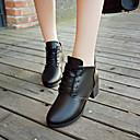 baratos Oxfords Femininos-Mulheres Sapatos Couro Ecológico Inverno Conforto Oxfords Salto Robusto Preto / Vinho