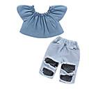 זול סטים של ביגוד לתינוקות-סט של בגדים ללא שרוולים דפוס בנות תִינוֹק