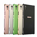 זול מגנים לטלפון & מגני מסך-מגן עבור Sony Xperia XA1 Plus עמיד בזעזועים / ציפוי כיסוי אחורי אחיד קשיח סיבי פחמן / מתכת ל Xperia XA1 Plus