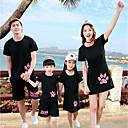 ieftine Set Îmbrăcăminte De Familie-Familie Uite Animal Manșon scurt Bluză