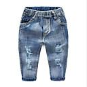 ieftine Pantaloni Băieți-Copii Băieți De Bază Mată Poliester Pantaloni Albastru Deschis 90