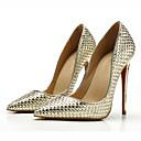 ieftine Tocuri de Damă-Pentru femei Pantofi PU Toamnă / Primavara vara Balerini Basic Tocuri Toc Stilat Vârf ascuțit Auriu / Negru / Argintiu / Party & Seară