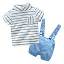 ieftine Seturi Îmbrăcăminte Băieți-Bebelus Băieți De Bază Dungi Manșon scurt Set Îmbrăcăminte / Copil