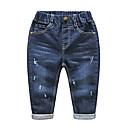 ieftine Pantaloni Băieți-Copii Băieți De Bază Mată Poliester Pantaloni Bleumarin 100
