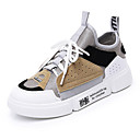 cheap Women's Heels-Women's Shoes Faux Leather Spring & Summer Comfort Sneakers Flat Heel White / Gray / Blue