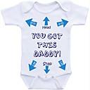 זול אוברולים טריים לתינוקות לבנים-חליפת גוף כותנה שרוול קצר דפוס בסיסי בנים תִינוֹק