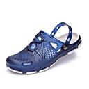 זול נעלי ספורט לגברים-בגדי ריקוד גברים מוקסין PVC קיץ נוחות כפכפים & כפכפים שחור / חום / כחול