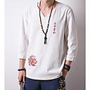 billige Herreringer-V-hals T-skjorte Herre - Bokstaver