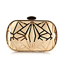 preiswerte Clutches & Abendtaschen-Damen Taschen Polyester Abendtasche Kristall Verzierung / Ausgehöhlt Blumenmuster Gold / Schwarz