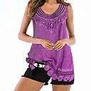 זול ערכות איפור-אחיד משוחרר בסיסי מידות גדולות עליונית טנק - בגדי ריקוד נשים סגול / קיץ