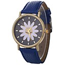cheap Bracelet Watches-Xu™ Women's Wrist Watch Chinese Creative / Casual Watch / Adorable PU Band Flower / Fashion Black / White / Blue