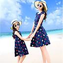 ieftine Set Îmbrăcăminte De Familie-Mama și cu mine Floral Fără manșon Rochie