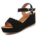 baratos Sandálias Femininas-Mulheres Sapatos Camurça Primavera Verão Tira no Tornozelo Sandálias Salto Plataforma Branco / Preto / Verde