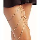 baratos Braceletes-Camadas Corrente para Perna Estiloso Mulheres Dourado / Prata Bijuteria de Corpo Para Bandagem / Bikini