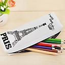 お買い得  ケース&財布-ペンケース ブラック / ホワイト, シリカゲル つや消し 組織 1個