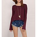 Χαμηλού Κόστους Πρακτικές Μπομπονιέρες-γυναικείο μπλουζάκι - στρογγυλό λαιμό με συμπαγές χρώμα