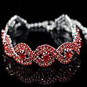 זול צמידים-בגדי ריקוד נשים שרשרת וצמידים גדיל יחיד אופנתי אקרילי צמיד תכשיטים כסף / אדום / ורוד עבור מתנה רחוב