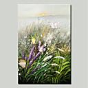 ieftine Picturi în Ulei-Hang-pictate pictură în ulei Pictat manual - Peisaj / Floral / Botanic Tradițional Includeți cadru interior / Stretched Canvas