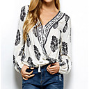 cheap Clutches & Evening Bags-Women's Shirt - Floral V Neck