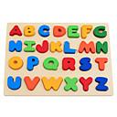 preiswerte Lesespielsachen-Lesespielzeug Buchstabe Eltern-Kind-Interaktion Hölzern Baby Alles Jungen Mädchen Spielzeuge Geschenk 1 pcs