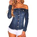 זול שרשראות-אחיד סקסי / סגנון רחוב ז'קטים מג'ינס - בגדי ריקוד נשים, פרנזים