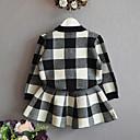 ieftine Rochii Fete-Copii Fete Bloc Culoare Manșon Lung Set Îmbrăcăminte