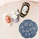 baratos Carimbos para Unhas-1 pcs Prego Carimbando Ferramenta Modelo Design Moderno arte de unha Manicure e pedicure Retro / Elegante Roupa Diária