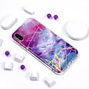 olcso Szintetikus parókák-Case Kompatibilitás Apple iPhone X / iPhone 8 Galvanizálás / IMD / Minta Fekete tok Márvány Puha TPU mert iPhone X / iPhone 8 Plus / iPhone 8