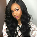 cheap Human Hair Wigs-Virgin Human Hair Glueless Lace Front / Lace Front Wig Brazilian Hair Natural Wave Wig With Baby Hair 130% Natural Hairline / With Bleached Knots / Pre-Plucked Black Women's Long Human Hair Lace Wig