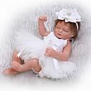 ieftine Păpuși-NPKCOLLECTION Păpuși Renăscute Bebeluș 12 inch Solid silicon din corp Silicon - natural Lui Kid Fete Jucarii Cadou
