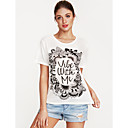 cheap Shoulder Bags-Women's Street chic Cotton T-shirt - Letter Print / Spring / Summer