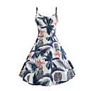 ieftine Papuci de casă-Pentru femei Zvelt Pantaloni - Floral Albastru piscină / Cu Bretele