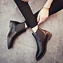 ieftine Sandale de Damă-Pentru femei Pantofi PU Iarnă / Toamna iarna Confortabili Cizme Toc Jos Negru / Gri
