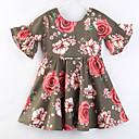 ieftine Set Îmbrăcăminte Bebeluși-Bebelus Fete Floral / Imprimeu Manșon Jumate Rochie
