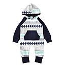 ieftine Set Îmbrăcăminte Bebeluși-Bebelus Băieți De Bază Imprimeu Manșon Lung Bumbac Salopetă Bleumarin 100 / Copil