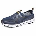 povoljno Muška sportska obuća-Muškarci Mrežica Ljeto Udobne cipele Natikače i mokasinke Dark Blue / Tamno siva