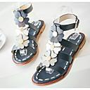 povoljno Ženske sandale-Žene Cipele Mekana koža Ljeto Udobne cipele Sandale Ravna potpetica Dark Blue / Tamno smeđa