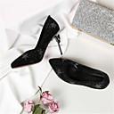 ieftine Tocuri de Damă-Pentru femei Pantofi Piele de Căprioară Primavara vara Balerini Basic Tocuri Toc Stilat Vârf ascuțit Negru / Migdală
