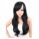 cheap Synthetic Lace Wigs-Synthetic Wig Wavy Kardashian Style Side Part Capless Wig Black Natural Black Synthetic Hair Women's Adjustable / Heat Resistant / Synthetic Black Wig Long / Yes