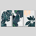 cheap Oil Paintings-Print Stretched Canvas - Floral / Botanical Modern Three Panels