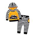 ieftine Set Îmbrăcăminte Bebeluși-Bebelus Fete Dungi Manșon Lung Set Îmbrăcăminte