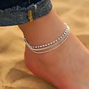 povoljno Ukrasi na tijelu-Žene Kubični Zirconia Gležanj Narukvica nakit za noge Više slojeva Posude Ispustiti jeftino dame Jednostavan Korejski Moda Svaki dan Kratka čarapa Jewelry Pink Za Dnevno Izlasci