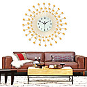 abordables Relojes de Pared Modernos y Contemporáneos-Moderno / Contemporáneo vidrio / Plástico y metal Redondo Interior / Exterior,Pilas AA alimentadas