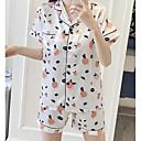 billiga Syntetiska peruker-Dam Sjalslag Underklädesplagg med strumpeband Pyjamas Enfärgad