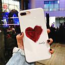 זול מגנים לטלפון & מגני מסך-מגן עבור Apple iPhone X / iPhone 8 Plus IMD / תבנית כיסוי אחורי לב רך TPU ל iPhone X / iPhone 8 Plus / iPhone 8