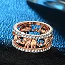 זול מניפות ושמשיות-בגדי ריקוד נשים מסוגנן טבעת הטבעת טבעת - ציפוי זהב 18 קאראט, נחושת, משובץ זהב ורוד פיל וינטאג', הַגזָמָה, היפ-הופ 5 / 6 / 7 / 8 / 9 זהב / זהב ורד עבור קרנבל בר / יהלום מדומה