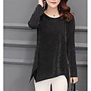זול סיכות אופנתיות-אחיד עסקים חולצה - בגדי ריקוד נשים פרנזים שחור ולבן