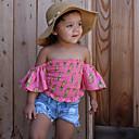 ieftine Seturi Îmbrăcăminte Fete-Copii Fete Ananas Floral Manșon scurt Set Îmbrăcăminte